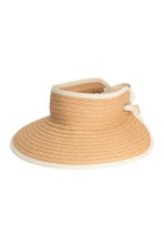 Straw visor - Natural - Ladies | H&M 1